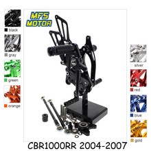 For Honda CBR1000RR 2004-2007 Motorcycle Foot Pegs CNC Adjustable Rearset Foot Rests CBR 1000RR 2005 2006 Footrests Footpegs arashi cbr1000rr 2004 2007 rider rearset for honda cbr 1000 2004 2005 2006 2007 cnc adjustable footrest footpegs cbr1000 rr 07