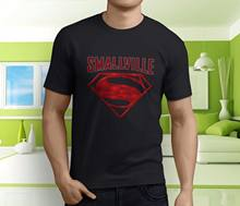 Nuevo Popular Smallville Superman Tom Welling negro de los hombres camiseta tamaño S-3XL... camisetas divertidas Hip Hop para hombre barato al por mayor(China)
