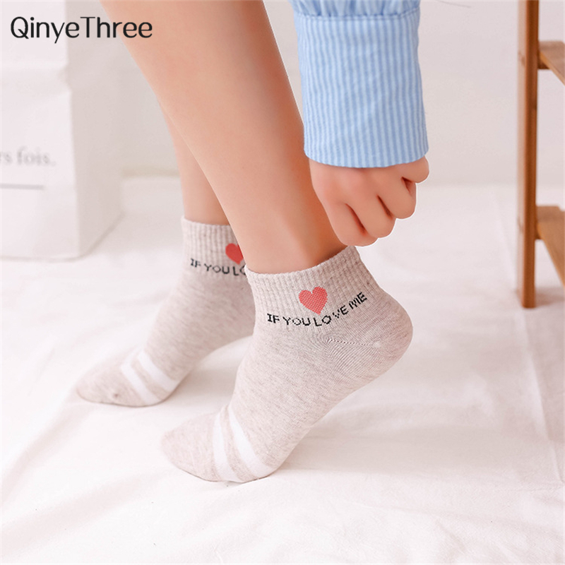 3864a4f39 Detail Feedback Questions about Women s fashion soft warm cotton socks  Double Stripe sokken Halajuku Love Heart printing with Personal words