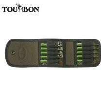 Tourbon การล่าสัตว์อุปกรณ์เสริมตลับปืนไรเฟิลผู้ถือ Camo ไนลอนกระสุนกระเป๋าสตางค์ Bullet POUCH Carrier กระสุนสำหรับเกมส์ยิง