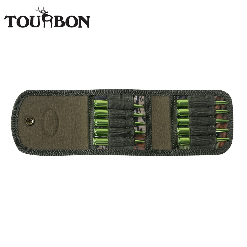 Tourbon Hunting Gun Accessories Rifle Cartridges Holder Camo Nylon Ammo Wallet Bullet Pouch Carrier for Ammunition Case Shooting