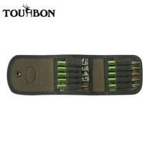 Tourbon porte cartouches pour armes de chasse, accessoires pour fusils de chasse, portefeuille de munitions en Nylon camouflage, pochette pour munitions de tir