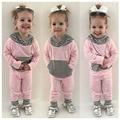 2017 новая весна и зима мальчик девочка одежда набор, детей bebes новорожденных мальчик в девочке 2 шт. комплект одежды roupas bebes meninos