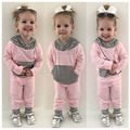 2017 new spring and winter baby boy girl clothes set ,kids bebes newborn boy girl 2pcs clothing set roupas bebes meninos