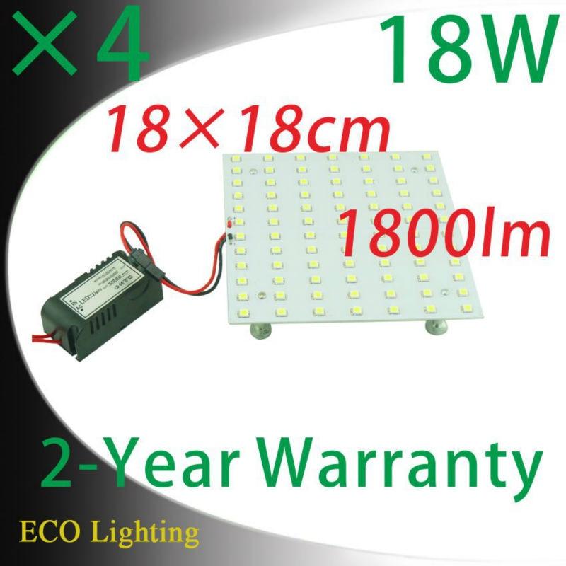 Wholesale 4PCS 18cm Square 2D LED Lamps Retrofit Led Ceiling Lights Panel Magnetic Aluminum PCB Lights
