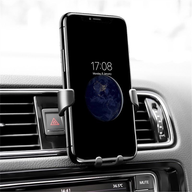 Universal Car Vent Mount Mobile Phone Holders 360 Rotate In Car Vehicle Cell Phone Stands for iPhone Samsung Xiaomi Redmi Note 7 in Phone Holders Stands from Cellphones Telecommunications