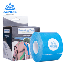 AONIJIE 5M*5cm Sports Elastic Kinesiology Tape Knee Elbow Protector Adhesive Bandage Muscle Recovery Waterproof Breathable 7pcs lot kinesiology tape physical therapy sports bandage recovery athletic fitness protector knee pain muscle elastic strap