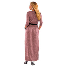 5XL 6XL Large Size Robe 2018 Spring Summer Dress Big Size Elegance Long Dress Women Dresses With Belt Plus Size Women Clothing