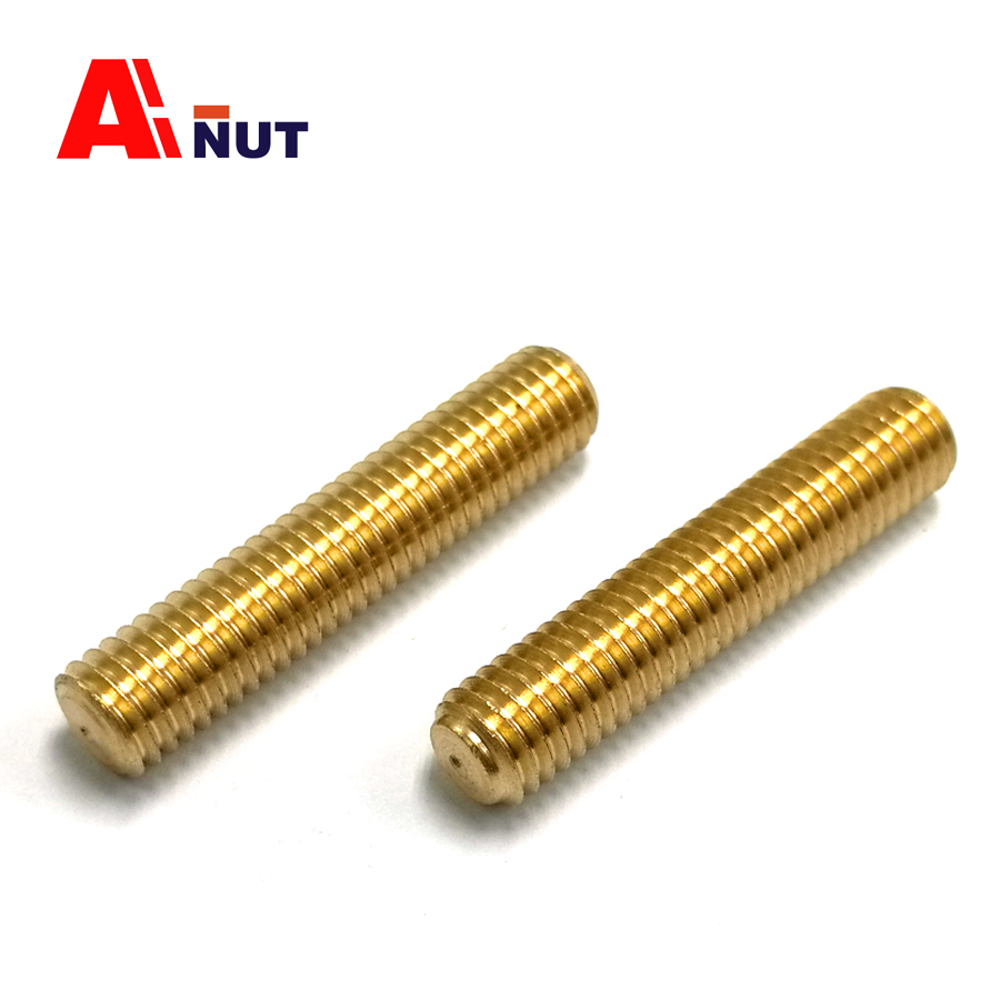 m3 m4 m5 m6 brass thread rod , full threaded stud screw , waterproof threaded rod bolt , high quality brass fasteners