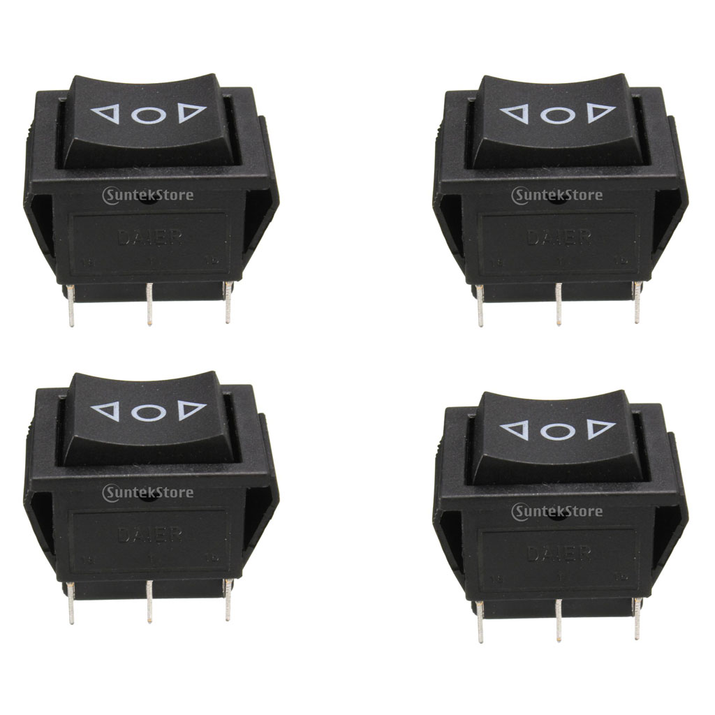 4 Pcs Universal 6-Pin Window Door Lock Rocker Switches Momentary Switch Sunroof Locks DPDT On/Off/On 12V Car Accessories image