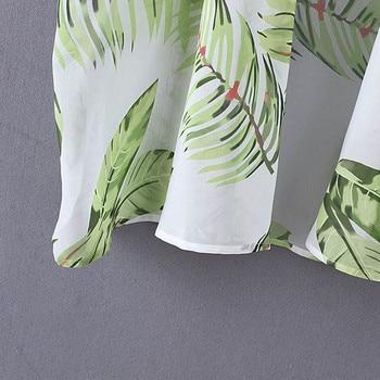 2019 Casual Leaves Print Chiffon Kaftan Beach Cover Up Cardigan Shawl Swimwear Women Summer Swimsuit Pareos Cape Saida De Praia 6