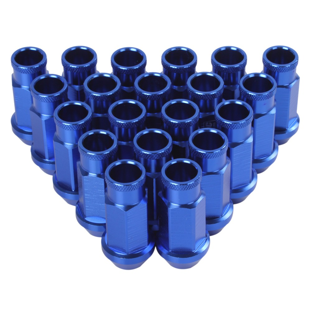 US $18 51 33% OFF|20 PCS Blue D1 Spec M12 X 1 5 Billet Aluminum Racing  Wheel Lug Nuts Screw-in Nuts & Bolts from Automobiles & Motorcycles on
