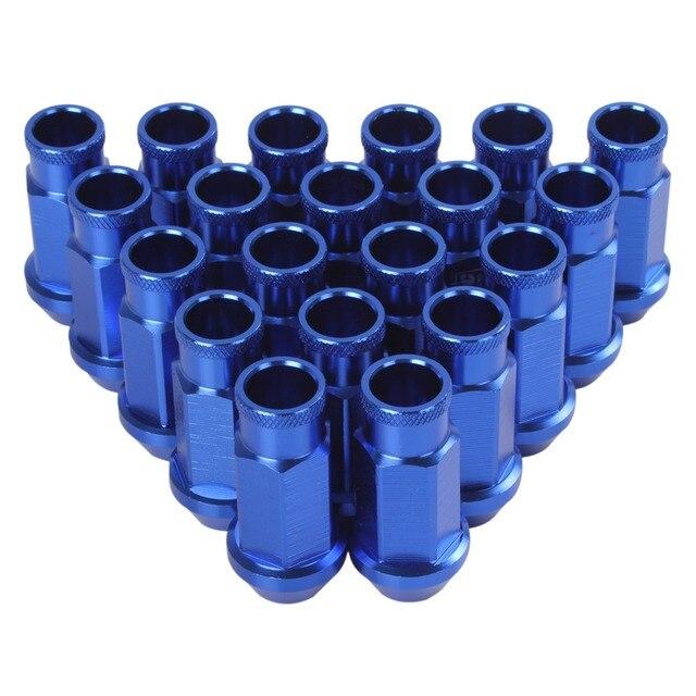 20 UNIDS Azul D1 Spec Racing Tuercas de las Ruedas M12 X 1.5 Tocho De Aluminio Tornillo