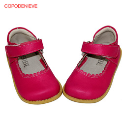 COPODENIEVE Girl flat heels spring and autumn style lace girl shoes in children's shallow mouth children's shoes leather shoes
