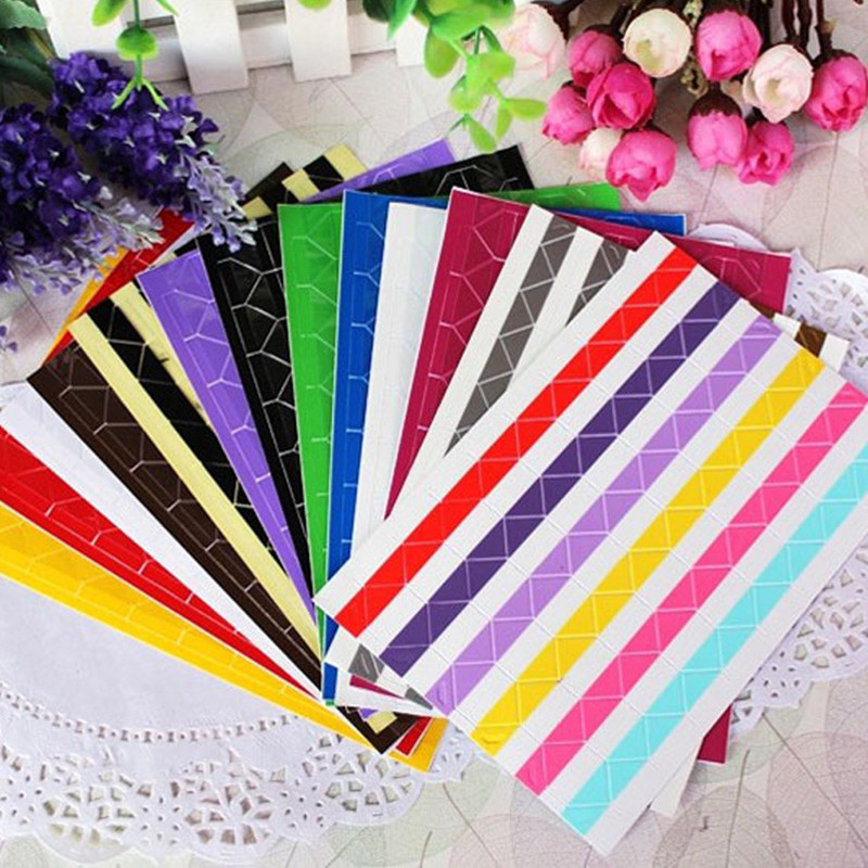 DIY PVC Colorful Corner Paper Stickers for Photo Albums Frame Decoration Scrapbooking Free shipping 2012