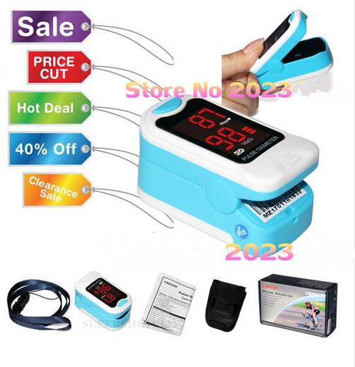 CONTEC CMS50M LED Fingertip Pulse Oximeter,Blood Oxygen Monitor, Care Health, BLACK Pouch