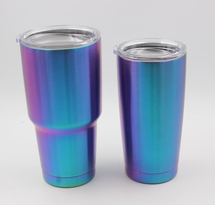 10pcs 30oz 20oz Tumbler Cups Rainbow Mugs Stainless Steel Double Wall Vacuum Insulated Mugs 900ml 600ml