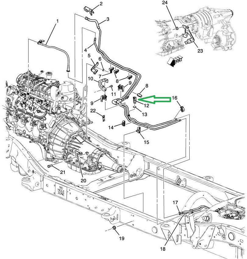 fuel pressure regulator location on 09 canyon