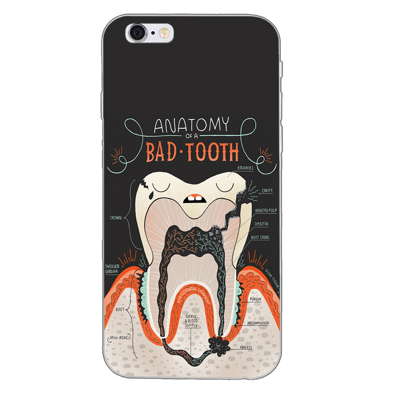 Nurse Doctor Dentist Stethoscope Tooth Injections Cool Phone Case Cover For Samsung Galaxy S9 S7 Edge Plus S8 S6 S5 S4 S3 Mini Evident Effect Half-wrapped Case Phone Bags & Cases