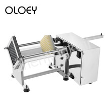 Stainless Steel Electric Fries Machine Potato Cutting Machine Adjustable Slit Size Cut Onion Cucumber Radish 60W Low power цены