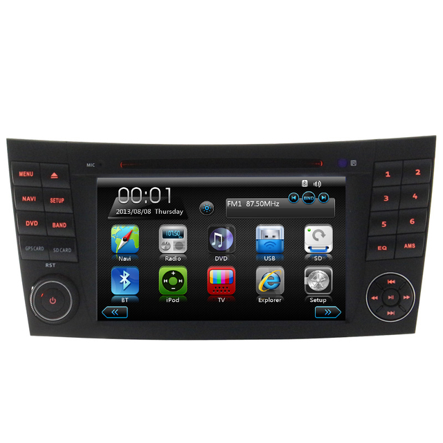 Wince6.0 double din Gps navigation for Mercedes W211 Car Dvd Player 3G Bluetooth rearview camera Canbus Multi-language Free map