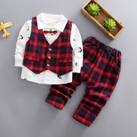 Baby Boy Clothes Set 3PCS Outfits Autumn Toddle Children Wedding Clothing Gentleman Formal Clothes Bebes Jogging Sets Sportswear