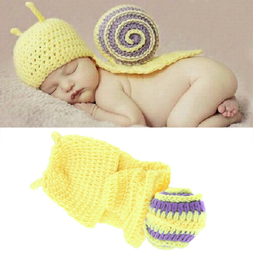 Infant Baby Crochet Snail Hats Newborn Photography Prop Boy Beanies Cap Hot Selling