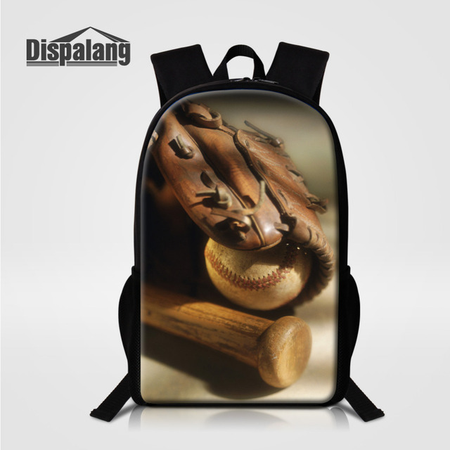 Dispalang Baseball Fans Large Kids School Bags For Teens Boys College  Sports Design Mens Backpack Casual c76fc1547