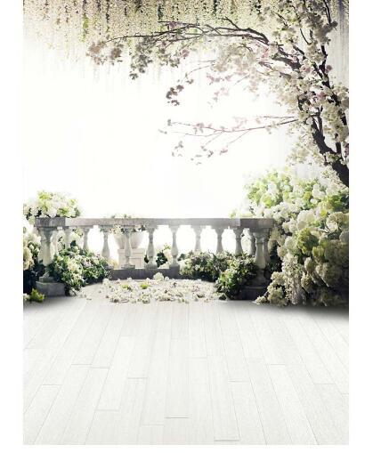 Poroka vinilne krpe cvetlična drevesa vrt podstrešje fotografije - Kamera in foto