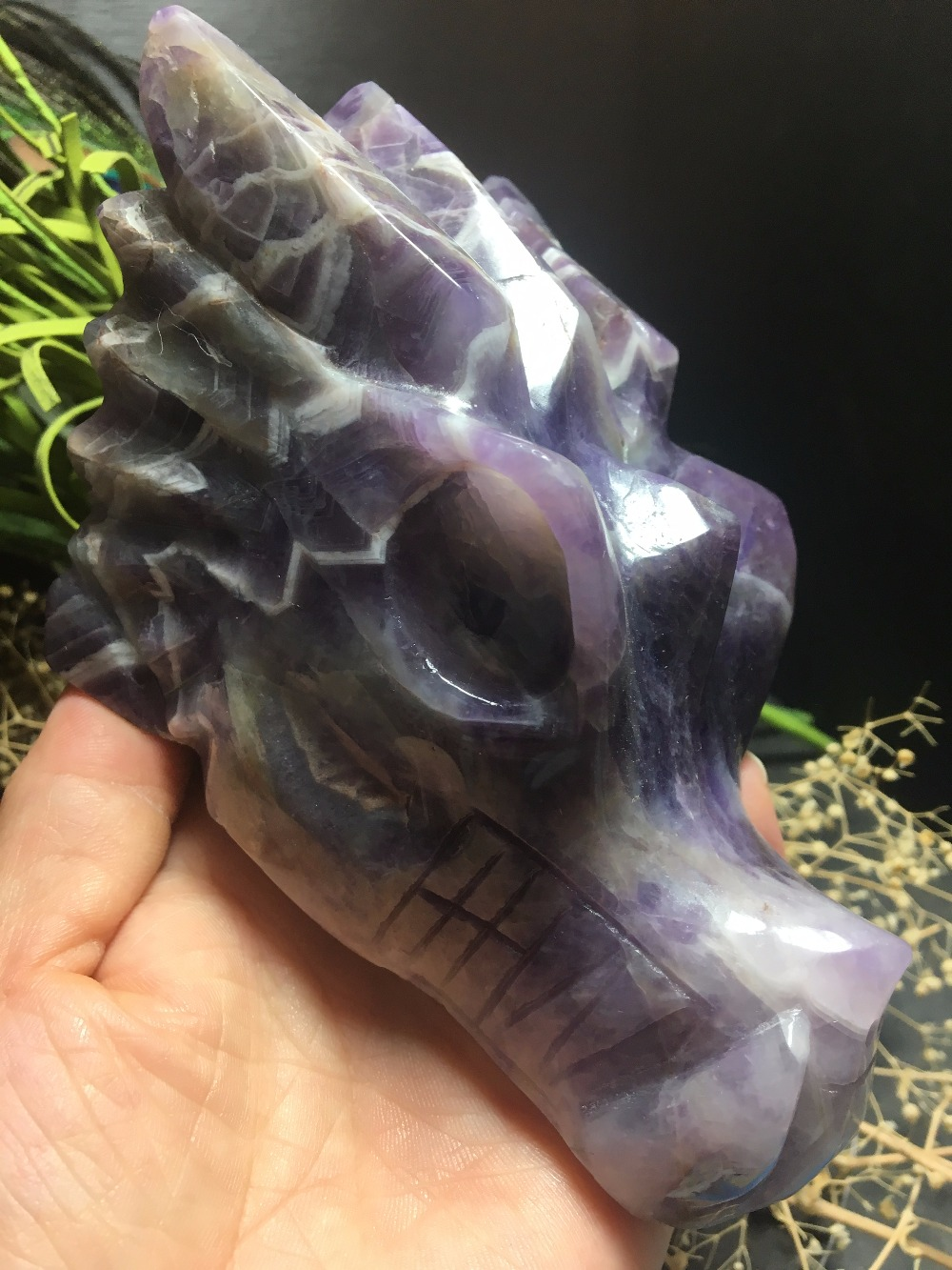 Natural  dreamlike  amethyst  hand- carved  faucet  healing reiki decorationNatural  dreamlike  amethyst  hand- carved  faucet  healing reiki decoration