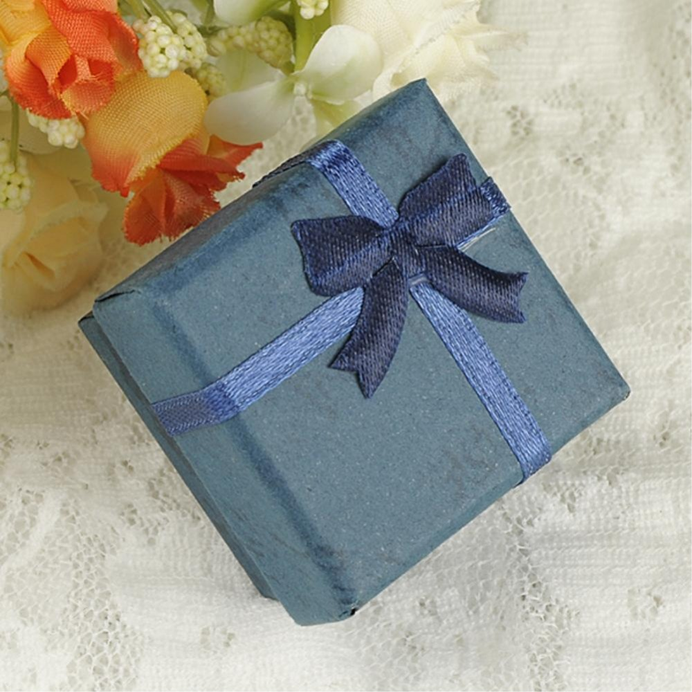 sale 10 color Fashion Ribbon Jewelry Box, Multi colors Ring Boxes, Earrings/Pendant Box 4*4*3 Display Packaging Gift Box