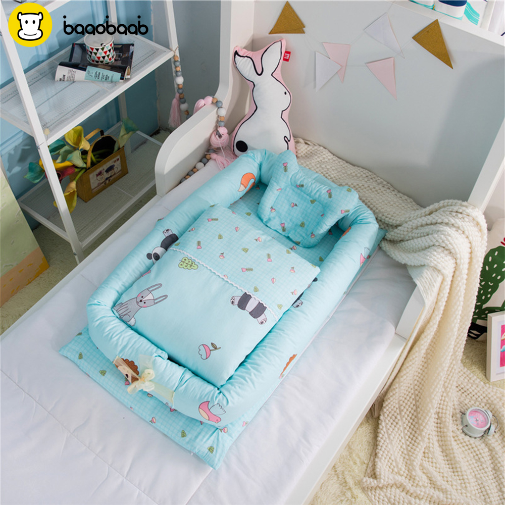 Baaobaab Fsc1 Pure Cotton Baby Nest Bed Cradle Cot Travel