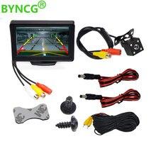 BYNCG 4,3 дюймов TFT ЖК-монитор автомобиля складной монитор дисплей обратная камера система парковки для автомобиля заднего вида Мониторы NTSC PAL