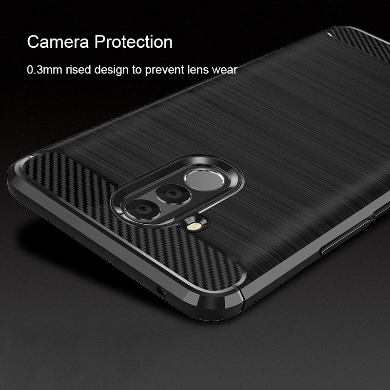 For Huawei Mate 20 Lite Case Carbon Fiber Soft Silicone Case for Huawei Mate 20 Lite Cover Shockproof Protective Case Bumper
