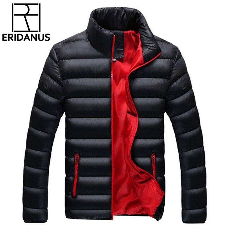 2017 Brand Jacket Men Warm Coat Black Outwear Chaquetas Plumas Hombre Winter Mens Coats Jackets Stand Collar Slim Clothes X624