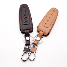 5 кнопок дистанционного ключа автомобиля кожаный чехол держатель для Ford Explorer Edge MKX MKT аксессуары для автомобильных ключей защитная оболочка автомобиля-Чехлы