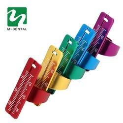 1 шт. зубные кольцо линейка стоматологический инструмент правитель зубные палец оборудование для колец измерительный инструмент