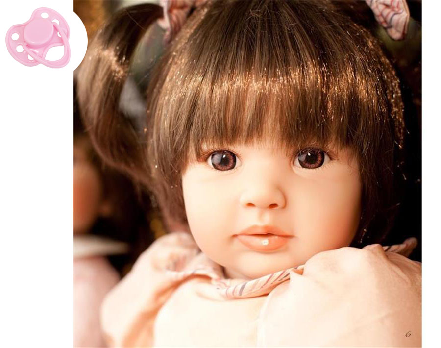 60cm Silicone Vinyl Reborn Baby Doll Toys Girls Brinquedos Lifelike Princess Play House Baby Dolls Christmas Gifts