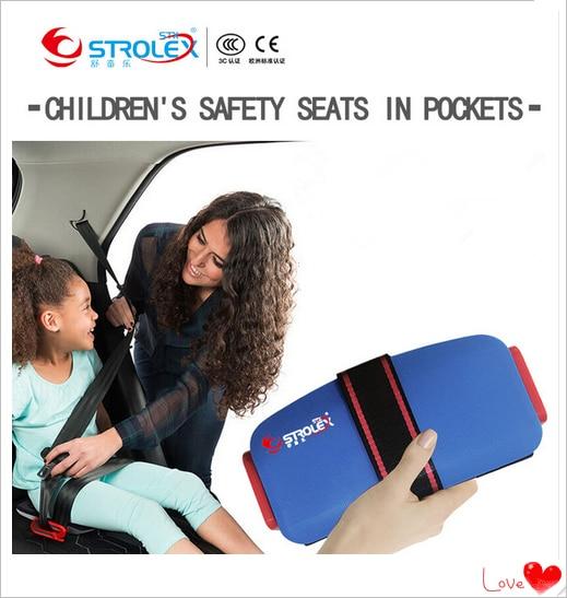 Strolex Mini Ifold Portable Child Car Safety Seat Baby Car Booster Seat Safety Cushion Vehicle Increased Pocket Harness Seat strolex mini fold baby car safety seat booster cushion car safety harness автомобильное безопасное сиденье для детей