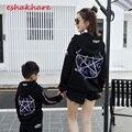 ESHAKHARE cinco estrellas magia matriz de suéter de algodón hip-hop kanye west, calle de la moda personalizada clothing campus de enfoque
