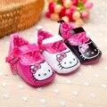 Venta caliente 1 par Hello Kitty Chica Zapatos de Bebé Zapatillas de Deporte zapatos de Suela Blanda, los niños antideslizantes Zapatos, alta calidad