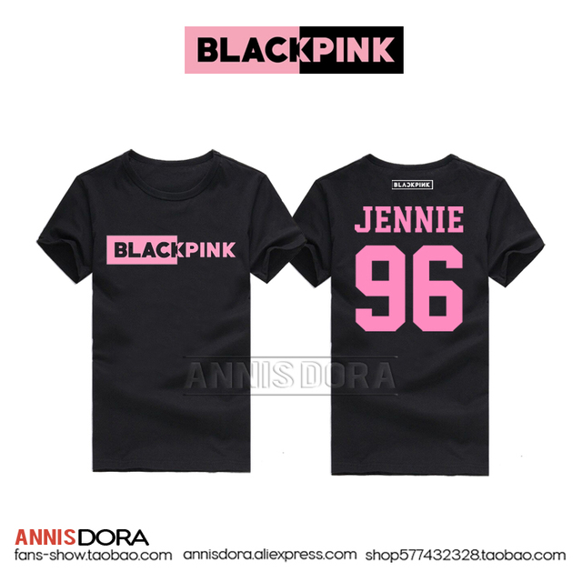 BLACKPINK LOGO LISA ROSE JISOO JENNIE Name Birthday Number T Shirt