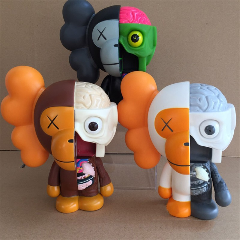 8 Inch Originalfake KAWS BAPE Anatomical apes MILO Dissected Companion Action Figure Collectible Model Toy zy536