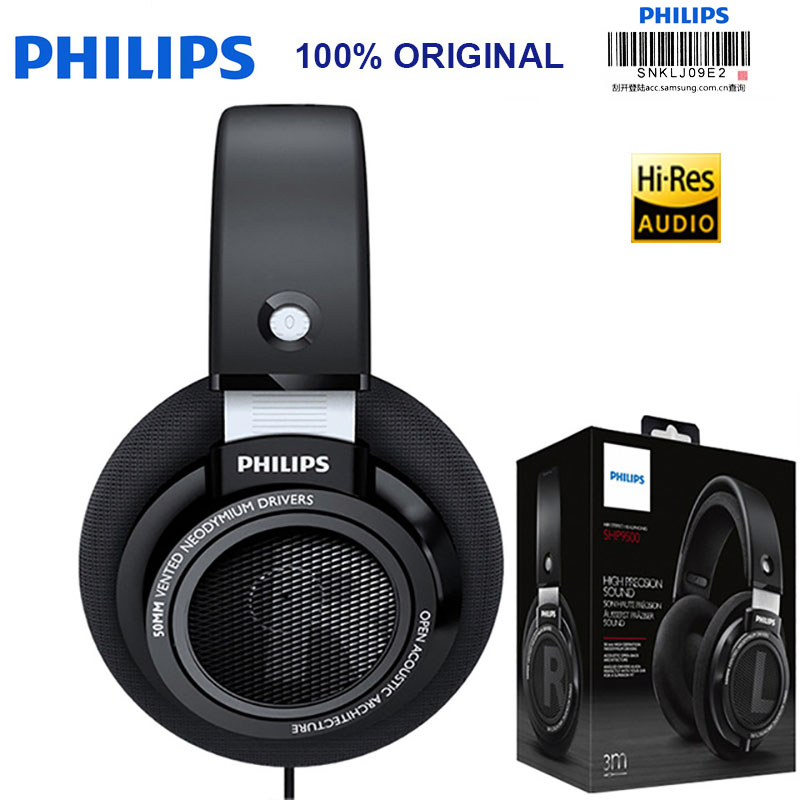 Original Philips SHP9500 Professional Headphones with Active Noise Cancelling 3 meters headset for Xiaomi MP3 Official