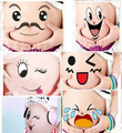 6sheets New Pregnant Photography Belly Sticker Maternity Props Funny Stickers