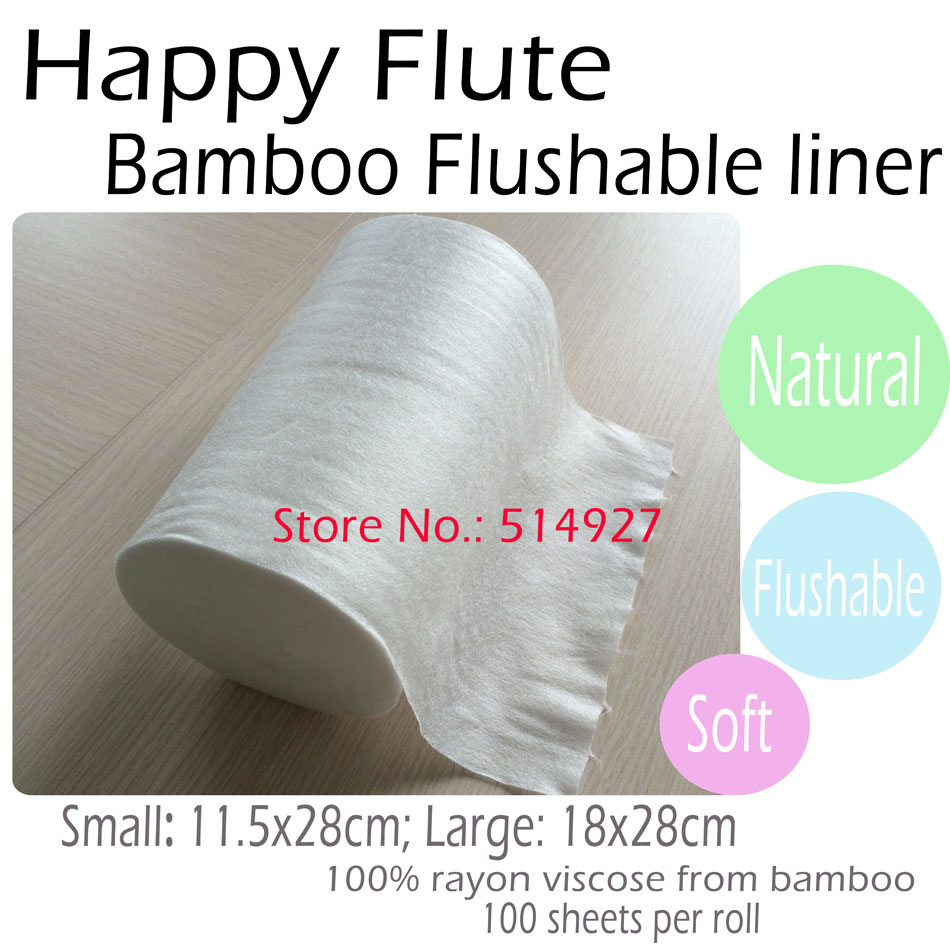 HappyFlute 100% Biodegradable & Flushable Nappy Liners Cloth Diaper Liners,1 Roll Free Shipping