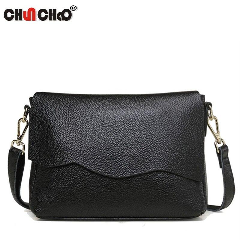 Women Bag Messenger-Bags Party-Clutch Crossbody Shoulder Genuine-Leather Fashion Ladies