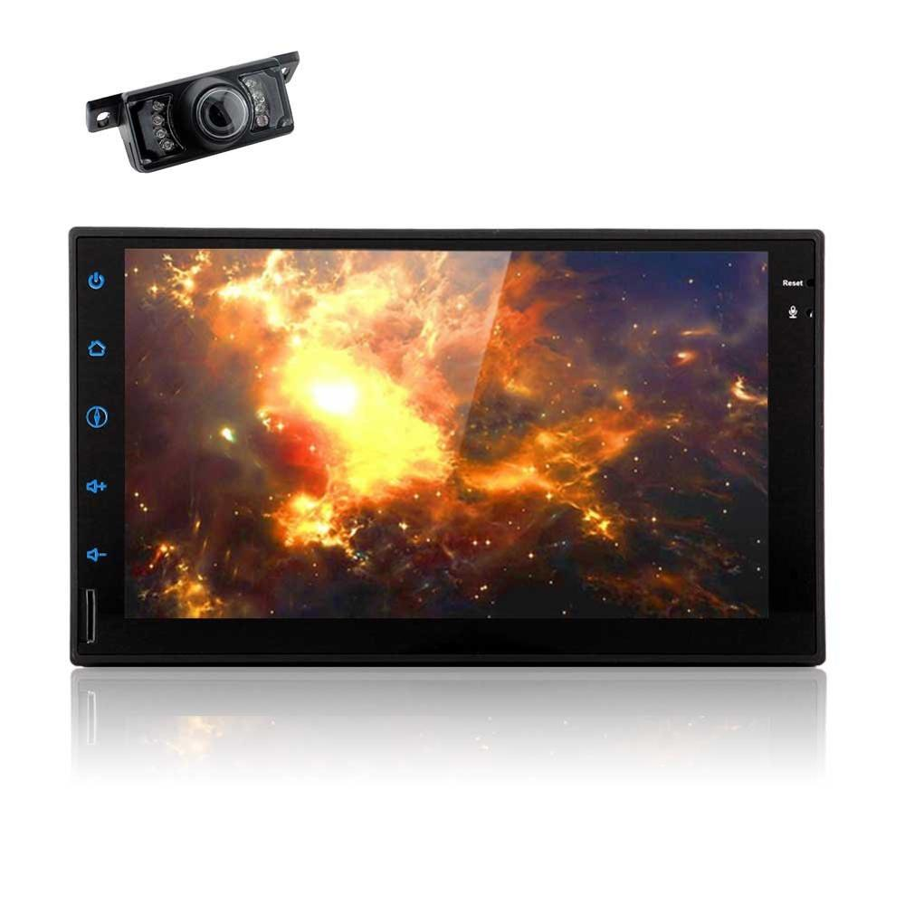 2 Din Touchscreen Andorid 6.0 Bluetooth Handsfree Calling LCD Monitor USB/Micro AM FM Radio RCA AUX Input Backup Camera Included
