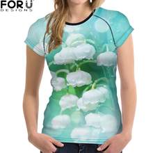 FORUDESIGNS Women t-shirt Plain Color Fitness Clothing Tops Women tee shirt Casual Loose for Ladies Girls Fashion Korean Style
