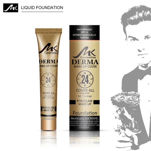 MK 3 Color Base líquida maquillaje Base mate Base ambiental resistente al agua alta cobertura maquillaje profesional para la cara